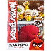 Angry Birds 2xA4 Puzzle 2x40 Bitar