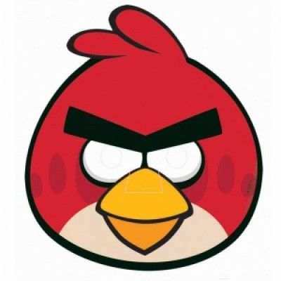 Angry birds Mask - Partymask - 6 st