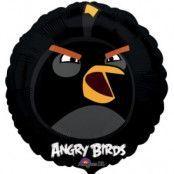 Folieballong - Angry Birds Black 45 cm