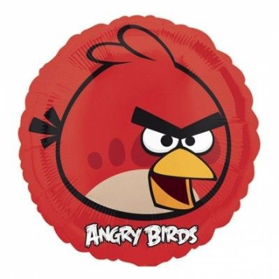 Folieballong Angry Birds Röd