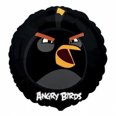 Folieballong Angry Birds Svart
