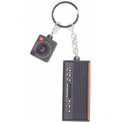 Atari 3D Console & Joystick Rubber Keychain