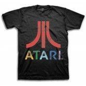 Atari Colorful Distressed Logo T-Shirt, Basic Tee