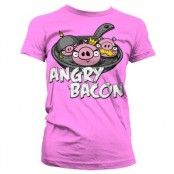 Angry Bacon Girly T-Shirt, Girly T-Shirt