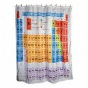 Duschdraperi med Periodiska Systemet