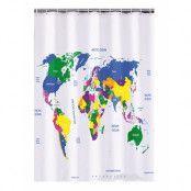 Duschdraperi Världskarta