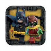 8 stk Små Fyrkantiga Papptallrikar 18x18 cm - Lego Batman