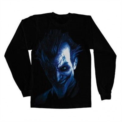 Arkham Joker Long Sleeve T-Shirt, Long Sleeve T-Shirt