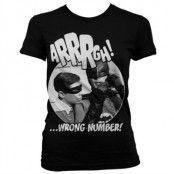 Arrrgh - Wrong Number Girly T-Shirt, Girly T-Shirt