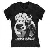 Arrrgh - Wrong Number Girly V-Neck Tee, Girly V-Neck T-Shirt
