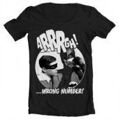 Arrrgh - Wrong Number Wide Neck Tee, Wide Neck T-Shirt