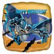 Batman Happy Birthday fyrkanting folieballong - 46 cm