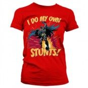 Batman - I Do My Own Stunts Girly Tee, Girly T-Shirt