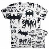 Batman Icons Allover T-Shirt, Modern Fit Polyester Tee
