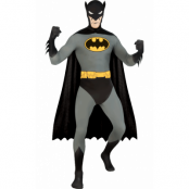 Batman Second Skin Maskeraddräkt, MEDIUM