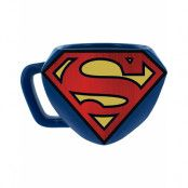 Svart Licensiert Superman 3D Mugg