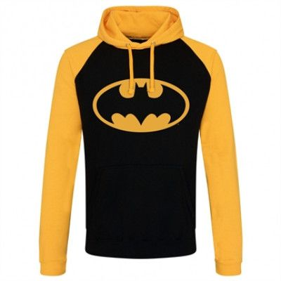 Batman Signal Logo Baseball Hoodie, Baseball Hooded Pullover