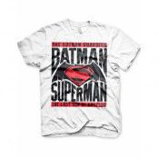 Batman VS Superman - Vit Unisex T-shirt
