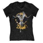 Batman Zamm! Girly V-Neck Tee, Girly V-Neck T-Shirt