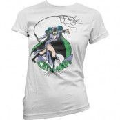 Catwoman In Action Girly Tee, Girly T-Shirt
