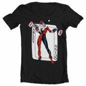 Harley Quinn Card Games Wide Neck Tee, Wide Neck Tee