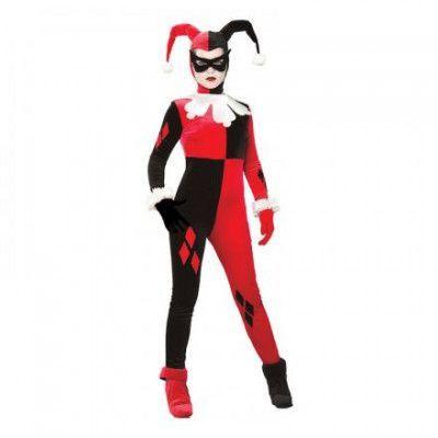 Harley Quinn Deluxe Maskeraddräkt - Small