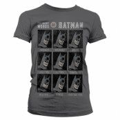 The Many Moods Of Batman Girly Tee, Girly Tee