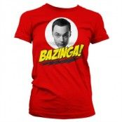 Bazinga Sheldons Head Girly T-Shirt, Girly T-Shirt