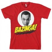 Bazinga Sheldons Head T-Shirt, Basic Tee