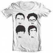 Big Bang Theory Prefix Heads Wide Neck Tee, Wide Neck T-Shirt