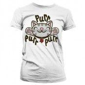 Soft Kitty - Purr-Purr-Purr Girly T-Shirt, Girly T-Shirt
