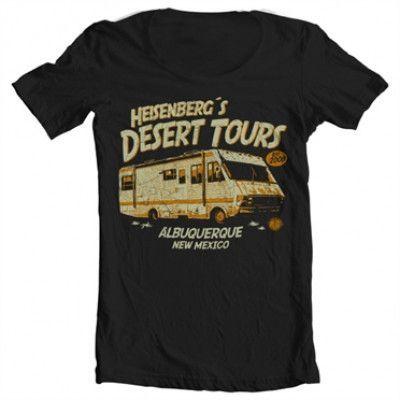 Heisenberg´s Desert Tours Wide Neck Tee, Wide Neck T-Shirt