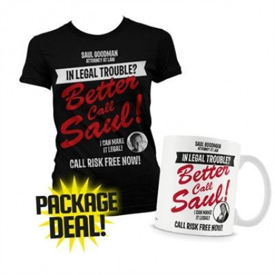 In Legal Trouble Package Deal - Girly T-Shirt+Mug, Girly T-Shirt and Coffee Mug