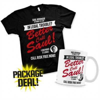 In Legal Trouble Package Deal - T-Shirt+Mug, Basic T-Shirt And Coffe Mug
