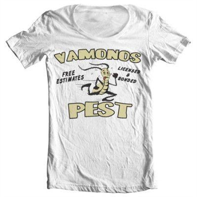 Vamanos Pest Wide Neck Tee, Wide Neck T-Shirt