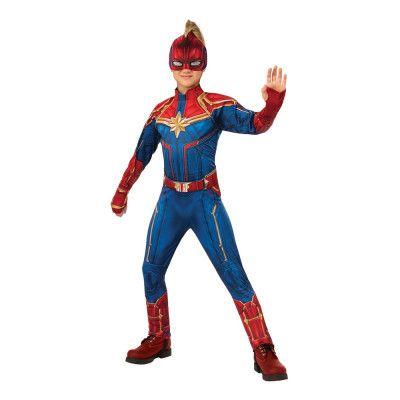 Captain Marvel Hero Barn Deluxe Maskeraddräkt - Small
