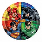 Papperstallrikar Justice League - 8-pack