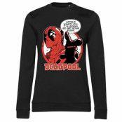 Deadpool - Get Some Sushi Girly Sweatshirt, Girly Sweatshirt