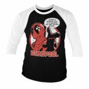 Deadpool - Sushi Baseball 3/4 Sleeve Tee, Long Sleeve T-Shirt