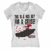 A Nice Day For A Cruise Girly V-Neck Tee, Girly V-Neck T-Shirt