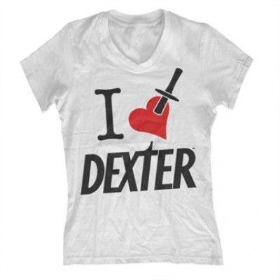 I Love Dexter Girly V-Neck T-Shirt, Girly V-Neck T-Shirt