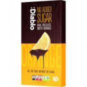 Diablo Mörk Choklad med Apelsinsmak 75 gram - Utan Tillsatt Socker