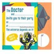 Doctor Who inbjudningskort engelsk text - 6 st