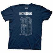Doctor Who Linear Tardis T-Shirt