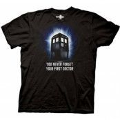 Dr Who - Never Forget Your First Doctor T-Shirt, Basic Tee