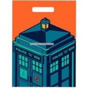 Partypåsar i plast Doctor Who/The Tardis - 6 st