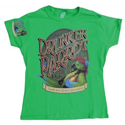 The Drunken Parrot Pub Girly T-shirt, Girly T-shirt