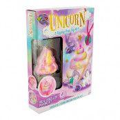 Unicorn Fizzing Poop Dig Kit med Ädelstenar