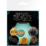 Fantastic Beasts - Pin Badges 6-Pack