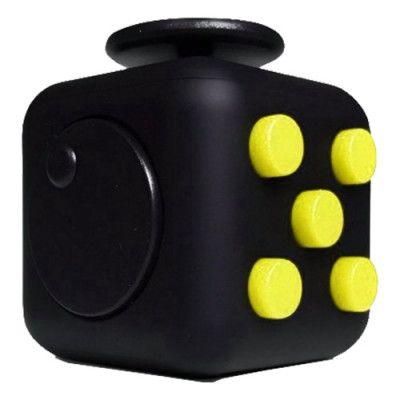 Fidget Cube - Gul/Svart